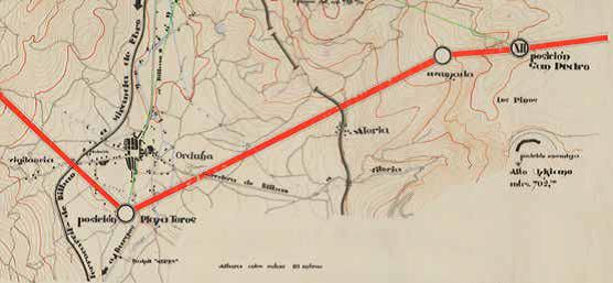 Urduñako sektorearen mapa, Arabako pelotoiak egin zuena 1937ko apirilean (AGMA).